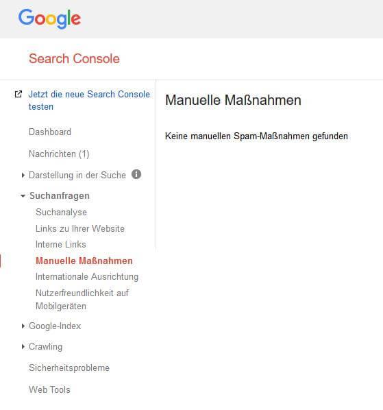 Google Search Console Wiederaufnahmeantrag stellen