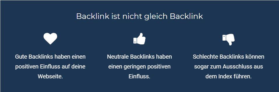 Warum man Backlinks braucht
