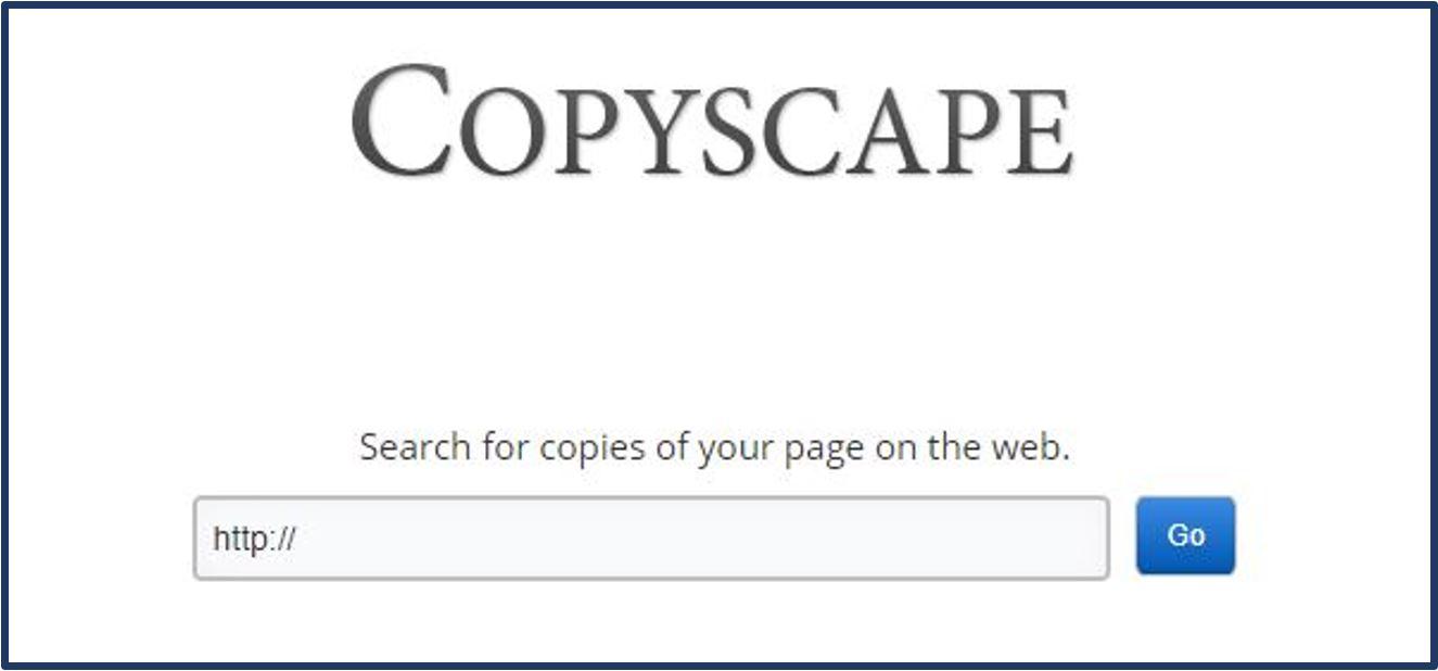 Duplicate Content checker Copyscape