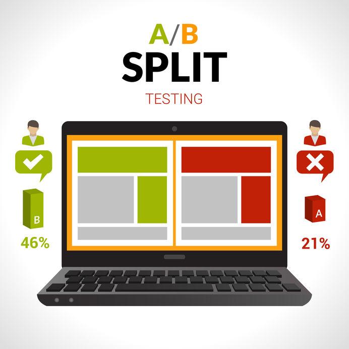 Split Testing Concept A/B